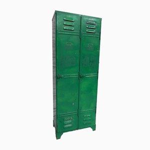Industrieller Vintage Stahl Spind mit zwei Türen
