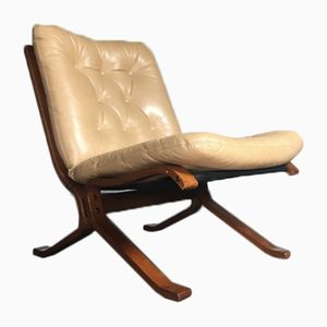 Mid-Century Leather Lounge Chair