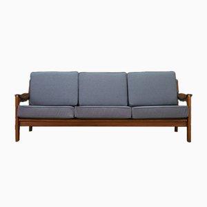 Vintage Danish Grey Fabric Sofa