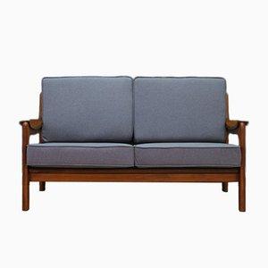 Vintage Danish Sofa with Grey Fabric