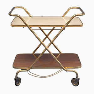 Two-Tone Trolley with Brass, 1950s