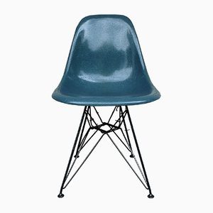 Vintage Blue-Grey Eiffel Base Side Chair by Charles & Ray Eames for Herman Miller