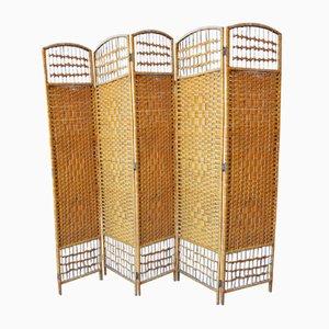 Hollywood Regency Bamboo Room Divider or Dressing Screen