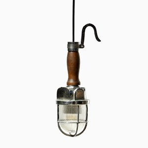 Petite Lampe à Suspension Industrielle Vintage