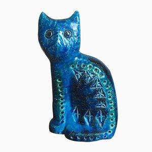 Katzen Skulptur von Aldo Londi für Bitossi, 1960er