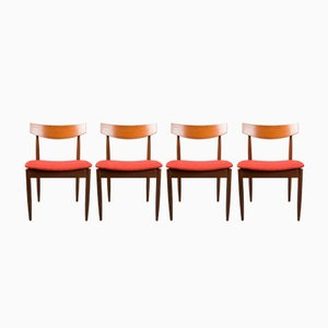Dining Chairs by Ib Kofod-Larsen for G-Plan, 1960s, Set of 4