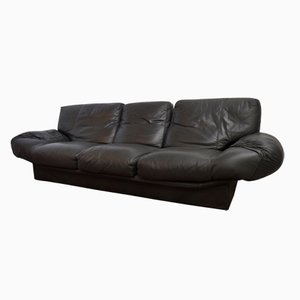 Vintage Grey Leather Sofa