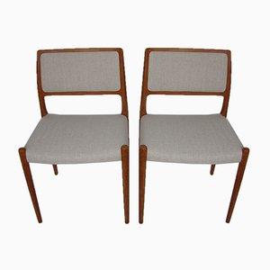 Stühle von Niels O. Møller für J.L. Møllers, 1960er, 2er Set