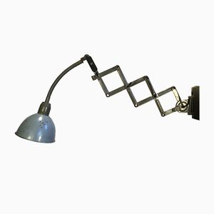 Grey Industrial Scissor Wall Lamp from Elektroinstala, 1960s