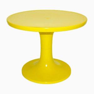 Gelber Plastik Couchtisch, 1960er