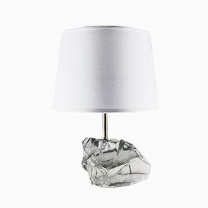 Französische Kristallglas Tischlampe, 1930er