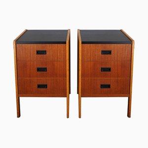 Mid-Century Swedish Bedside Cabinets, 1960s, Set of 2