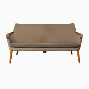Mid-Century Teak & Wool Couch from Bovenkamp