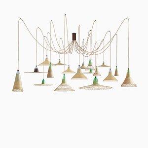 Chimbarongo PET Lampe mit 18 Leuchten von Alvaro Catalán de Ocón für ACdO/