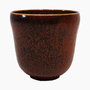 Vase No. 363 en Céramique Marron par Nathalie Krebs pour Saxbo