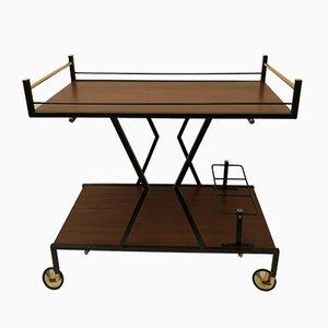 Vintage Italian Iron & Wood Cart