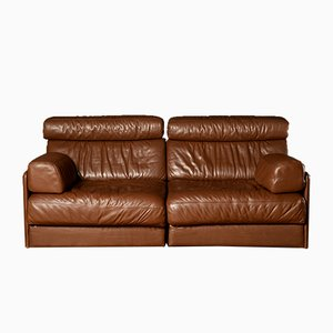 Mid-Century Brown DS-76 Sectional 2-Seater Sofa Bed from de Sede