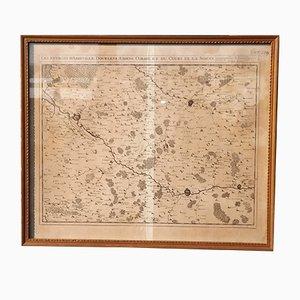 Antike Karte der Abbeville Region von Eugene Henry Fricx, 1710er