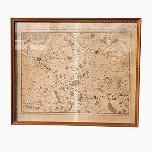 Antique Abbeville Region Map from Eugene Henry Fricx, 1710s