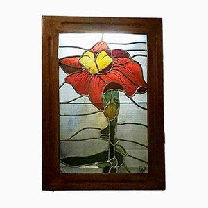 Backlit Stained Glass Panel by Bielsko Biala, 1961