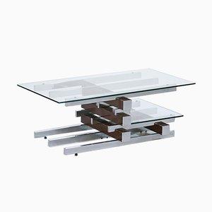Vintage Glass & Chrome Coffee Table