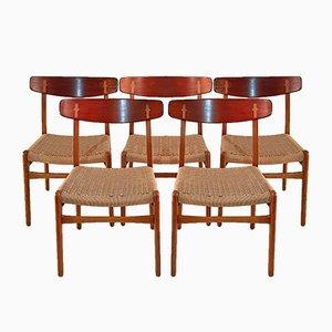 CH23 Dining Chairs by Hans J. Wegner for Carl Hansen & Søn, 1950s, Set of 5