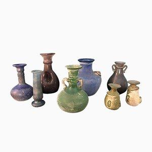 Vases Vintage en Verre Coloré, Set de 8
