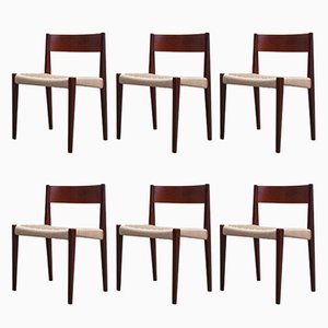 Pia Chairs by Poul Cadovius for Royal System, 1960s, Set of 6