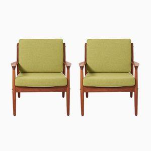 Armlehnstühle von Grete Jalk für Glostrup Møbelfabrik, 1960er, 2er Set