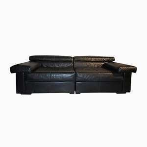 Erasmo Leather Sofa by Afra & Tobia Scarpa for B&B Italia, 1970s