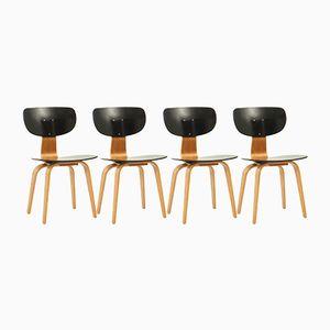 Modell SB02 Esszimmerstühle von Cees Braakman für Pastoe, 1950er, 4er Set