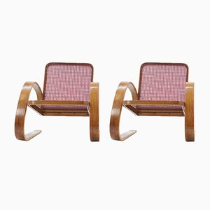 Vintage Lounge Chairs by Miroslav Navrátil for Zdeněk Plesník, 1949, Set of 2