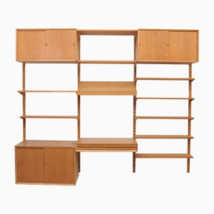 Vintage Oak Wall Unit with Desk by Paul Cadovius for Cado