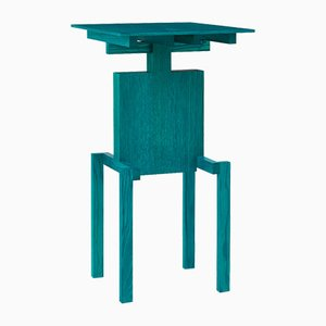 Table d'Appoint Covered Identity en Frêne Turquoise par Studio Pascal Howe