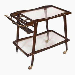 Mid-Century Modern Mahogany Bar Cart by Cesare Lacca