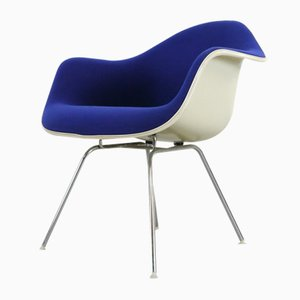 Blue Lounge Chair with Low Base by Charles & Ray Eames for Vitra, 1970s