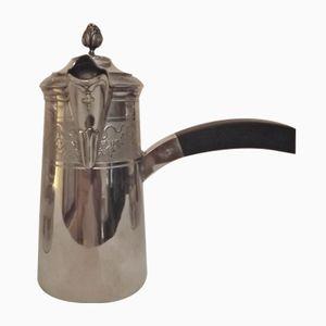 Antike französische Sterling Silber Kakao Kanne