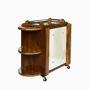 Vintage Dry Bar on Casters from Borraz