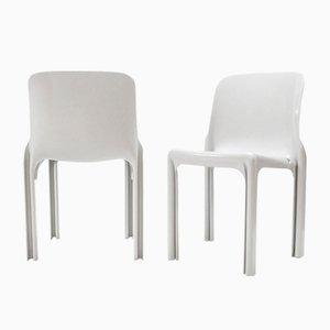 Vintage Sélène Chairs von Vico Magistretti für Artemide, 2er Set