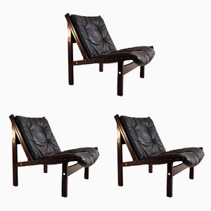 Vintage Hunter Chairs by Torbjørn Afdal for Bruksbo Norway, Set of 3