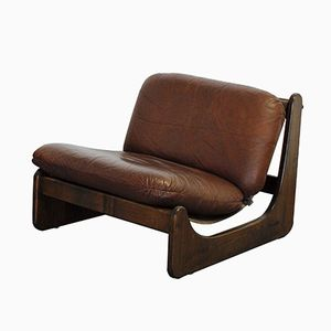 Vintage Danish Buffalo Leather Armchair