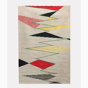 Large Czech Modernist Rug by Antonin Kybal, 1950s