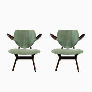 Vintage Pelican Stühle von Louis van Teeffelen für AWA, 2er Set
