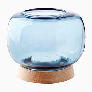 Maxi blauer Hurricane Kerzenständer von Anders Nørgaard für Applicata