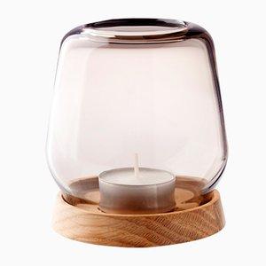 Großer Rauchglas Hurricane Kerzenständer von Anders Nørgaard für Applicata