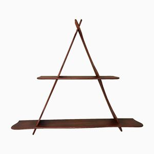 Teak Triangle Wall Shelving Unit by Peder Moos, 1950s