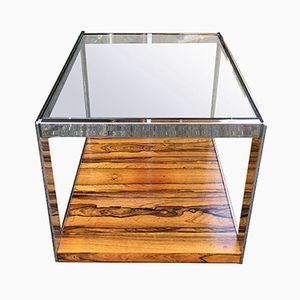 Glass & Chrome Side Table from Merrow Associates, 1975