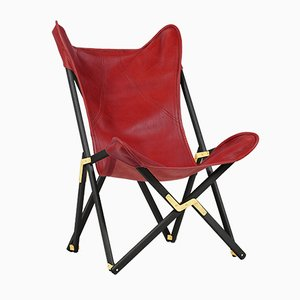 Red Telami Tripolina Leather Chair from Telami