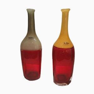Vasen in Flaschenform von Alfredo Barbini, 1970er, 2er Set