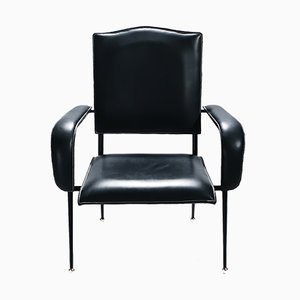 Leather Armchair by Jacques Adnet, 1950s
